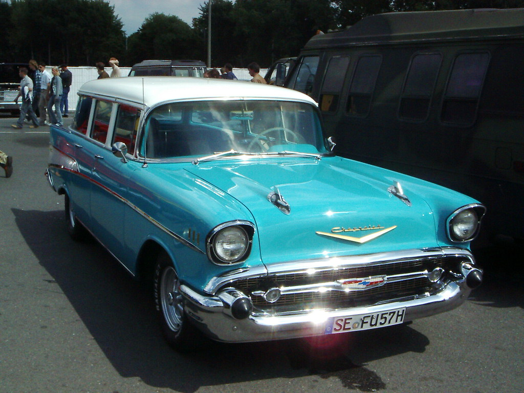 Chevrolet Bel Air Station Wagon 1957 1 Hamburg Heiligeng Flickr Chevy By Zappadong