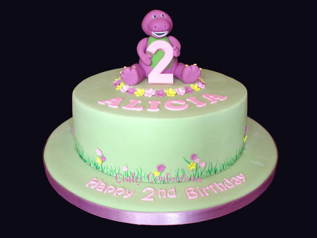 Alicias Barney Birthday Cake My Lovely Nieces 2nd Birthd Flickr