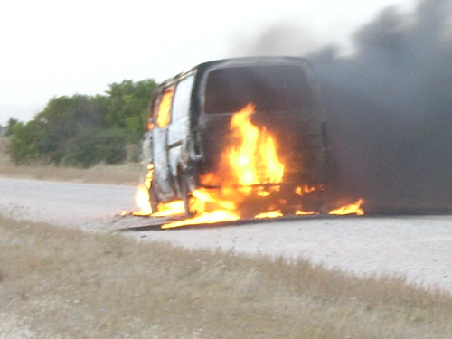 Van on fire | by Mundoo