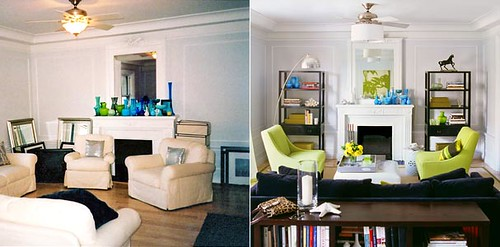 before and after living rooms before amp after living room symmetry green blue flickr 18143