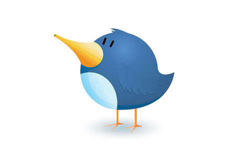 Twitter bird logo icon illustration | by Matt Hamm