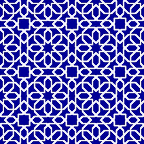 Ramadan Blue Pattern 768 X 768 Pixels Blue Pattern I