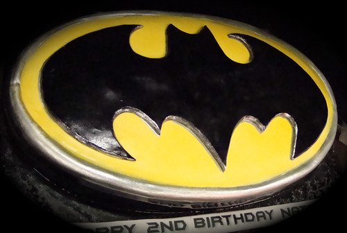 batman logo cake | by debbiedoescakes