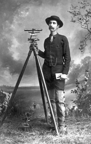 Overton Bernard with surveying equipment | by State Library and Archives of Florida