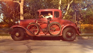 April 17, 1976, Me, My Iron Mistress, 1954 Schwinn Meteor & a Boneshaker on the back bumper... | by whymcycles