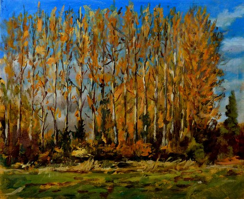Autumn Poplars - Black Dog crossroads | by andrewpainting1