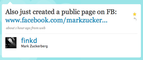 Twitter / Mark Zuckerberg: Also just created a public ... | by factoryjoe