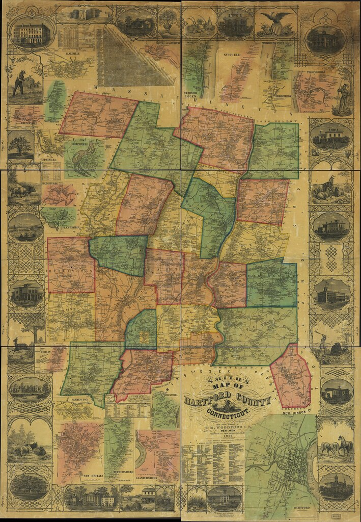 Smiths map of Hartford County Connecticut Full Quality Flickr