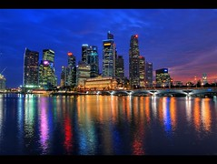 Singapore CBD Nightscape | by jaraine