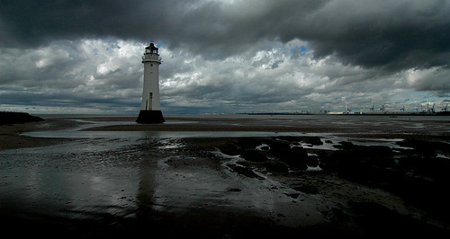 New Brighton lighthouse stands tall as the storm passes.. | by jimmedia