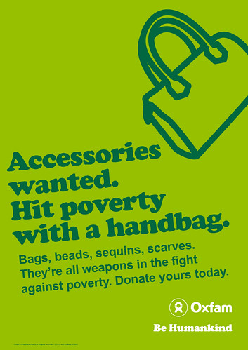 Donate accessories poster | Oxfam shops are desperate for