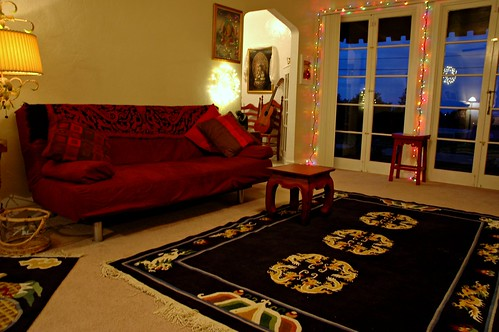 Living room tibetan california style san mateo ca usa for California style living room