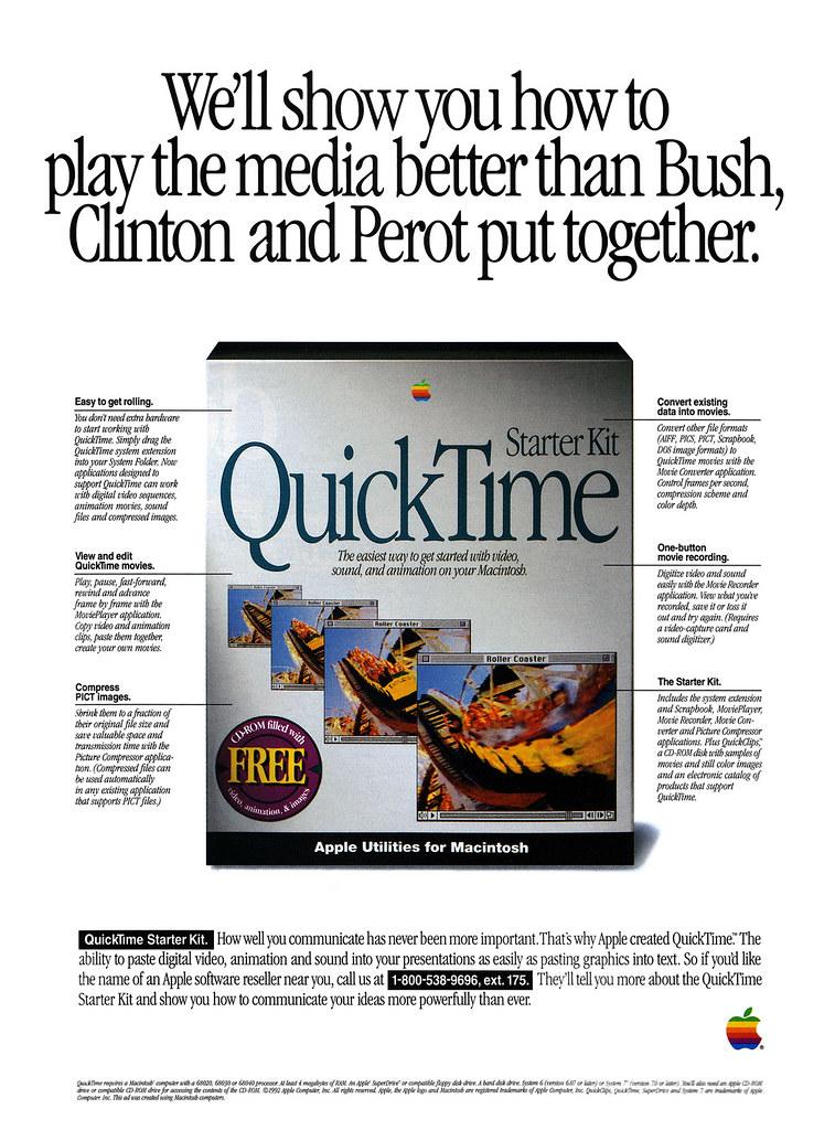 Apple QuickTime Starter Kit advertisement from MacUser 9/9… | Flickr