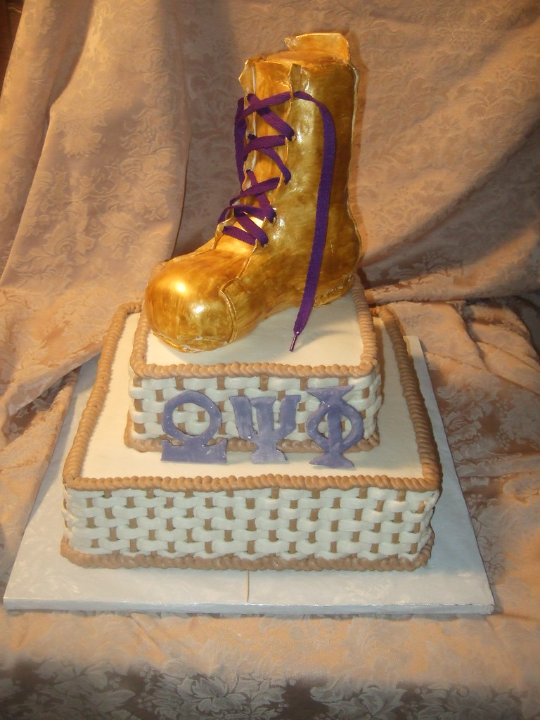 Omega Psi Phi Grooms Cake Each Tier Is A Scratch Made 3 L Flickr