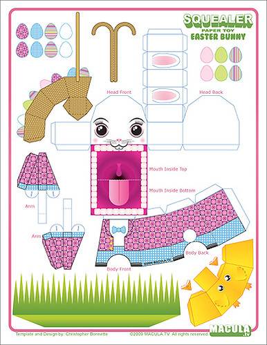 Toys Easter Magazine : Bunny squealer template happy easter download hi res