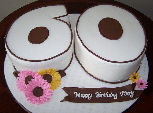 how to make a number 60 birthday cake
