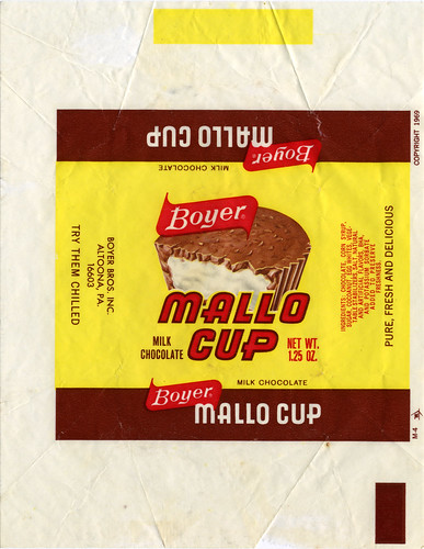 Boyer - Mallo Cup candy bar wrapper - 1970's | by JasonLiebig