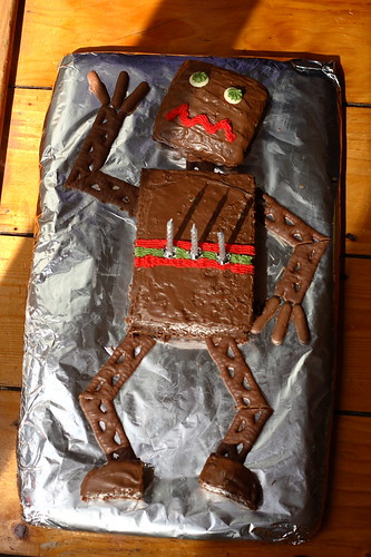 Robot Birthday Cake Webcomic