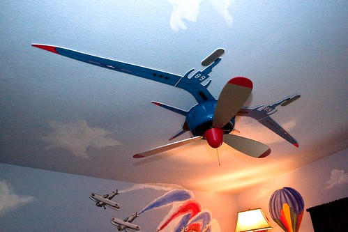 Airplane Propeller Ceiling Fan Victoria Snider Decorated
