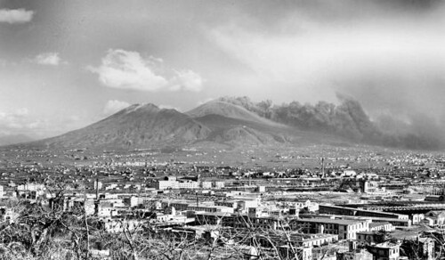 mt vesuvius eruption as seen from naples 1944 creator