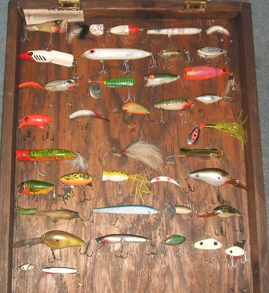 Antique Vintage Fishing Lure Display