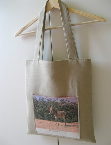 Tote bag with baby donkey ad | by cottonbud_design
