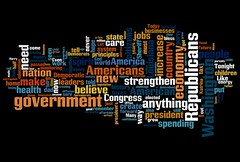 Word Cloud of Gov. Jindal's GOP response to Obama's speech | by Jason-Morrison