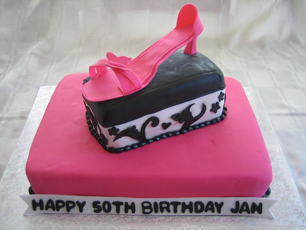 Pink Shoe Birthday Cake Ink Shoe Birthday Cake With Fondan Flickr