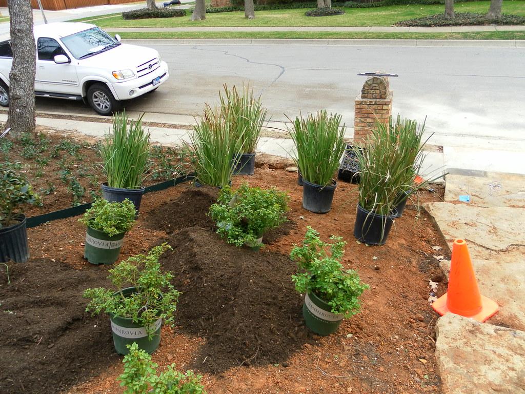 Allen Landscapers | Installing a custom frontyard landscape … | Flickr