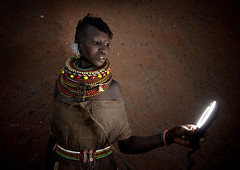 Turkana girl and the ring flash - Kenya | by Eric Lafforgue