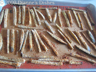 "Eggplant ""Fries"" with Creamy Onion Dip: Eggplant ""Fries"": Baked 