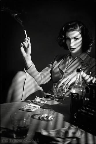 film noir femme fatale by matt frederick fleur flickr. Black Bedroom Furniture Sets. Home Design Ideas