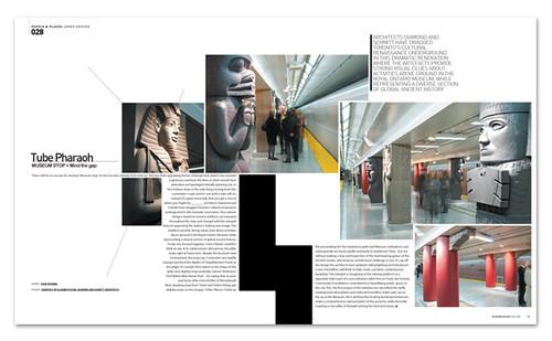 Tube Pharaoh Canada Subway Modern Design Magazine Novem