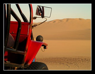 driving on the sand dunes | by maios