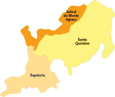 mapa de sobral de monte agraço Concelho de Sobral de Monte Agraço | Mapa das freguesias | Jorge  mapa de sobral de monte agraço