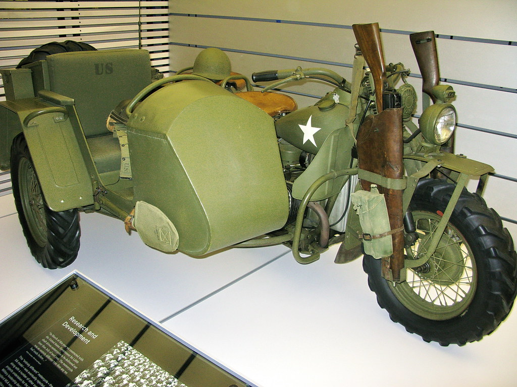 US Army WWII HarleyDavidson Motorcycle With Sidecar And R Flickr - Museums for sale in us