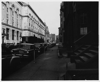 Copley Square, Blagden Street, 50 ft intervals, Side of Boston Public Library, Stairs at Right | by MIT-Libraries