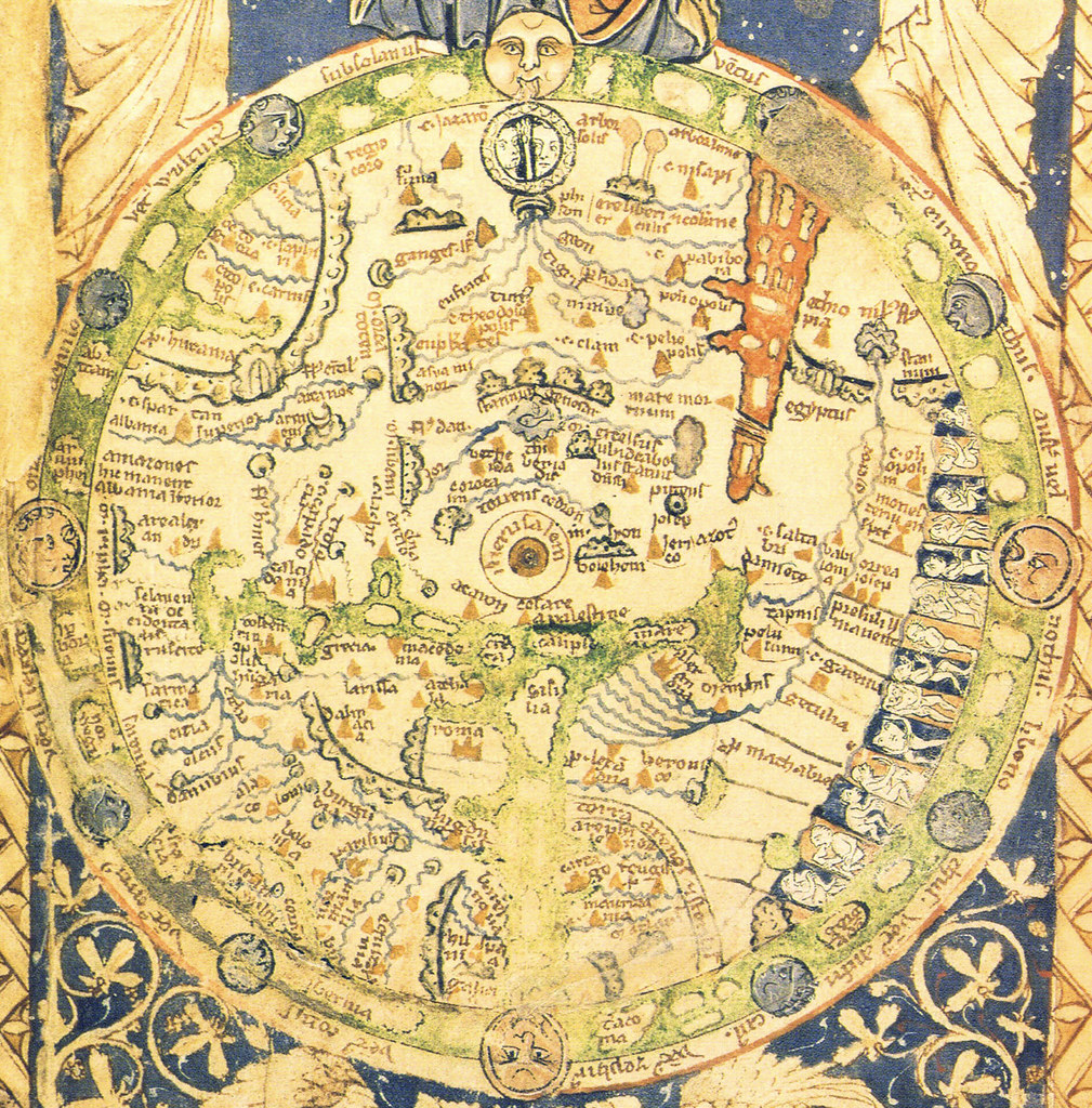 Psalter Map A Map Of The World With Jerusalem At The Cent Flickr - Jerusalem on world map