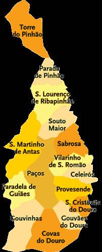 mapa de sabrosa Concelho de Sabrosa | Mapa das freguesias | Jorge Bastos | Flickr mapa de sabrosa