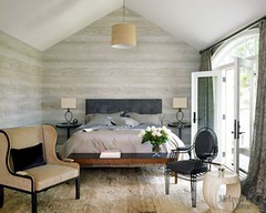 Modern Neutral Gray Bedroom Faux Bois Wallpaper From Met Home