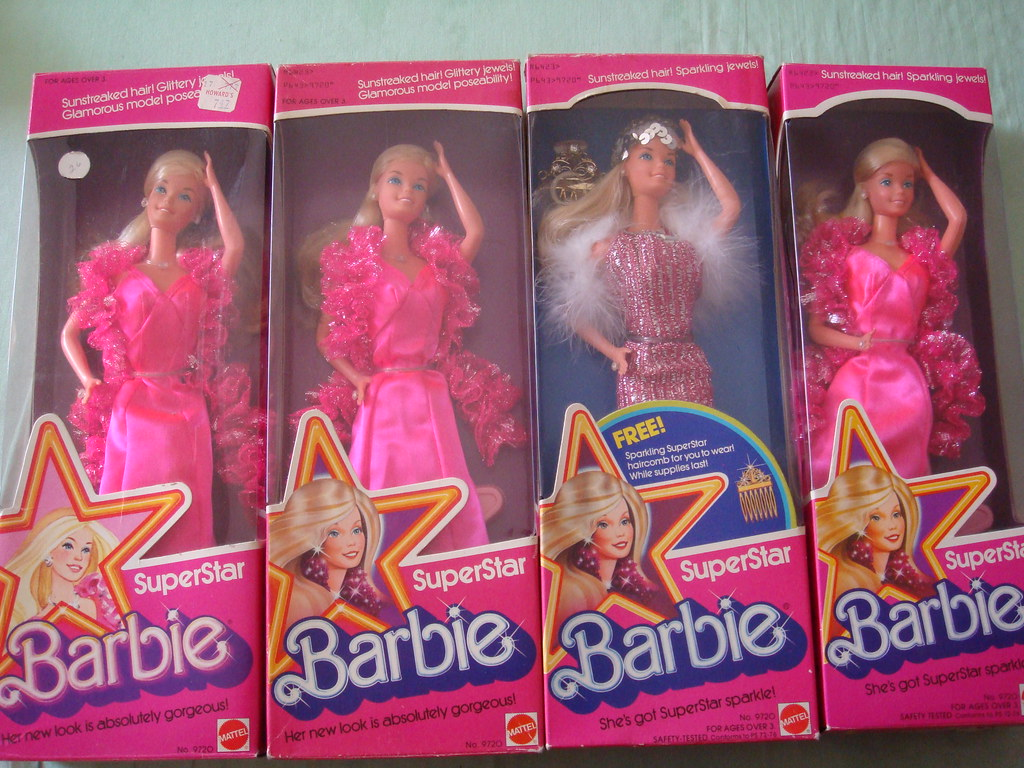 ... Barbie Superstar # 9720, many variation made in Taiwan and Philippines with different box and