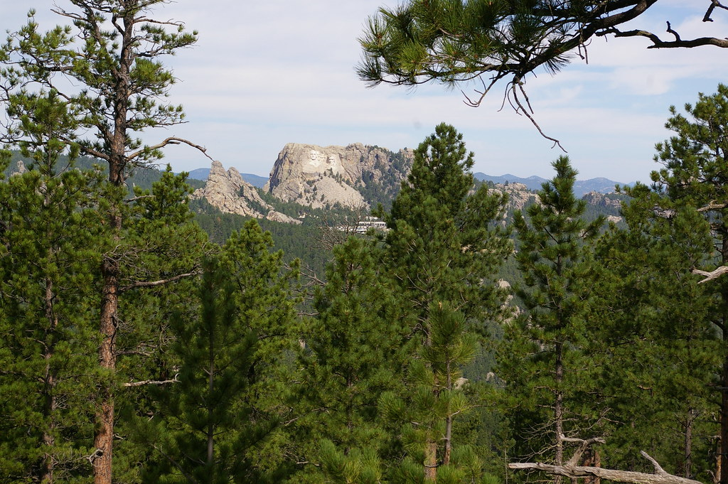 Mount Rushmore from a distance