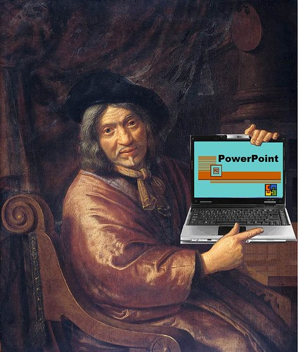Portrait with PowerPoint, after Pieter Jansz van Asch | by Mike Licht, NotionsCapital.com