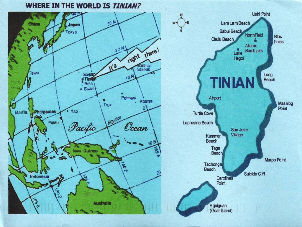 Map of Tinian, Northern Mariana Islands - US Treritory | Flickr