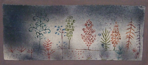 "Paul Klee: ""Row of trees in the park"" (1928) 