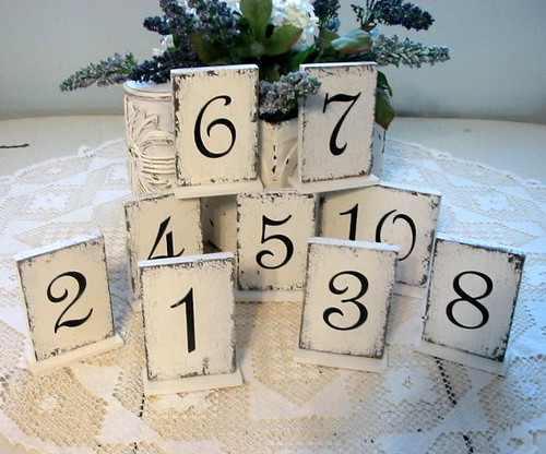 Wedding or Reception Table Numbers Self standing table num Flickr