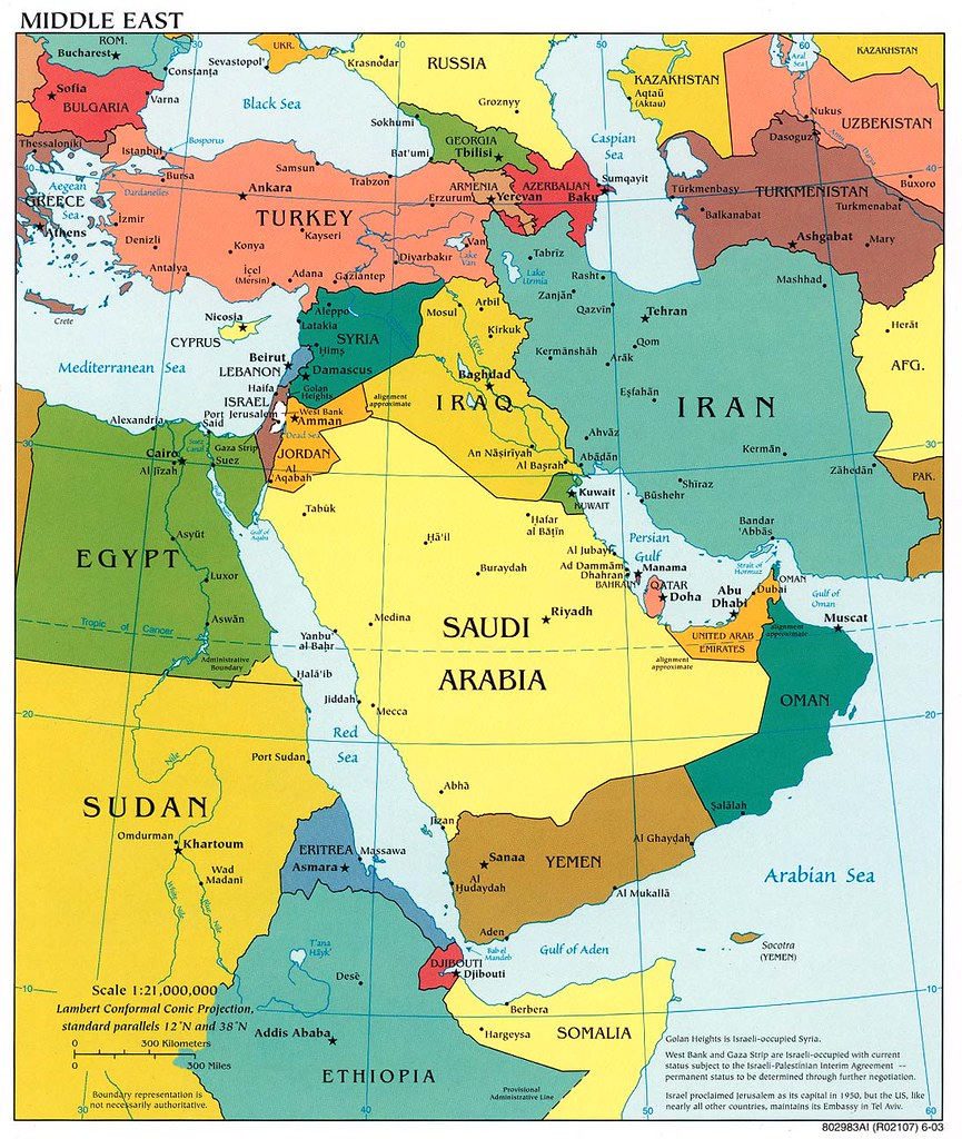 Middle East The Middle East map I need it to my group Fufulula