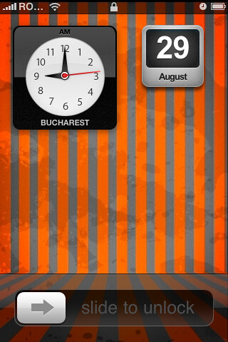 iPhone custom LockScreen with Clock & Calendar   No it's not