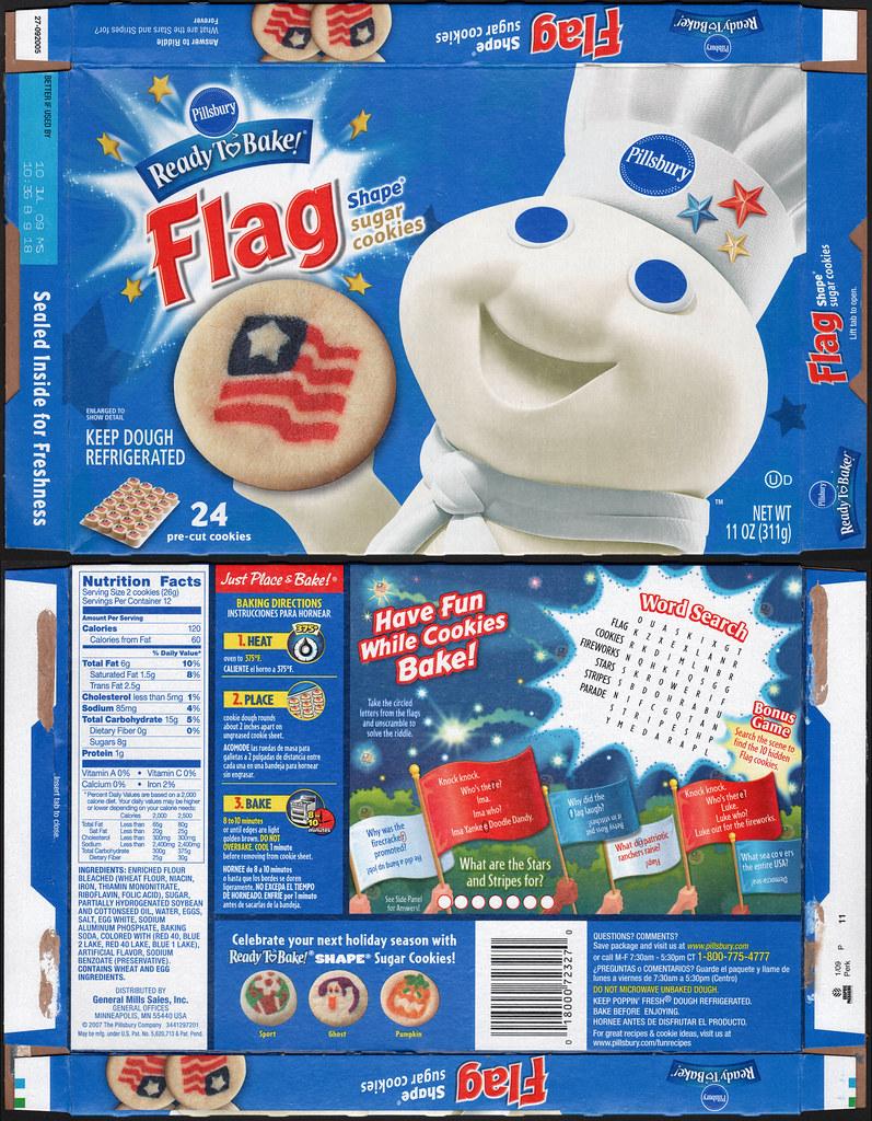 Pillsbury Ready To Bake Flag Shape Sugar Cookies Box 200 Flickr