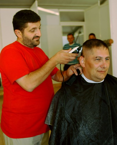 Barber Joint : 090728-A-3208L-Barber-BU-005 by Joint Task Force.East